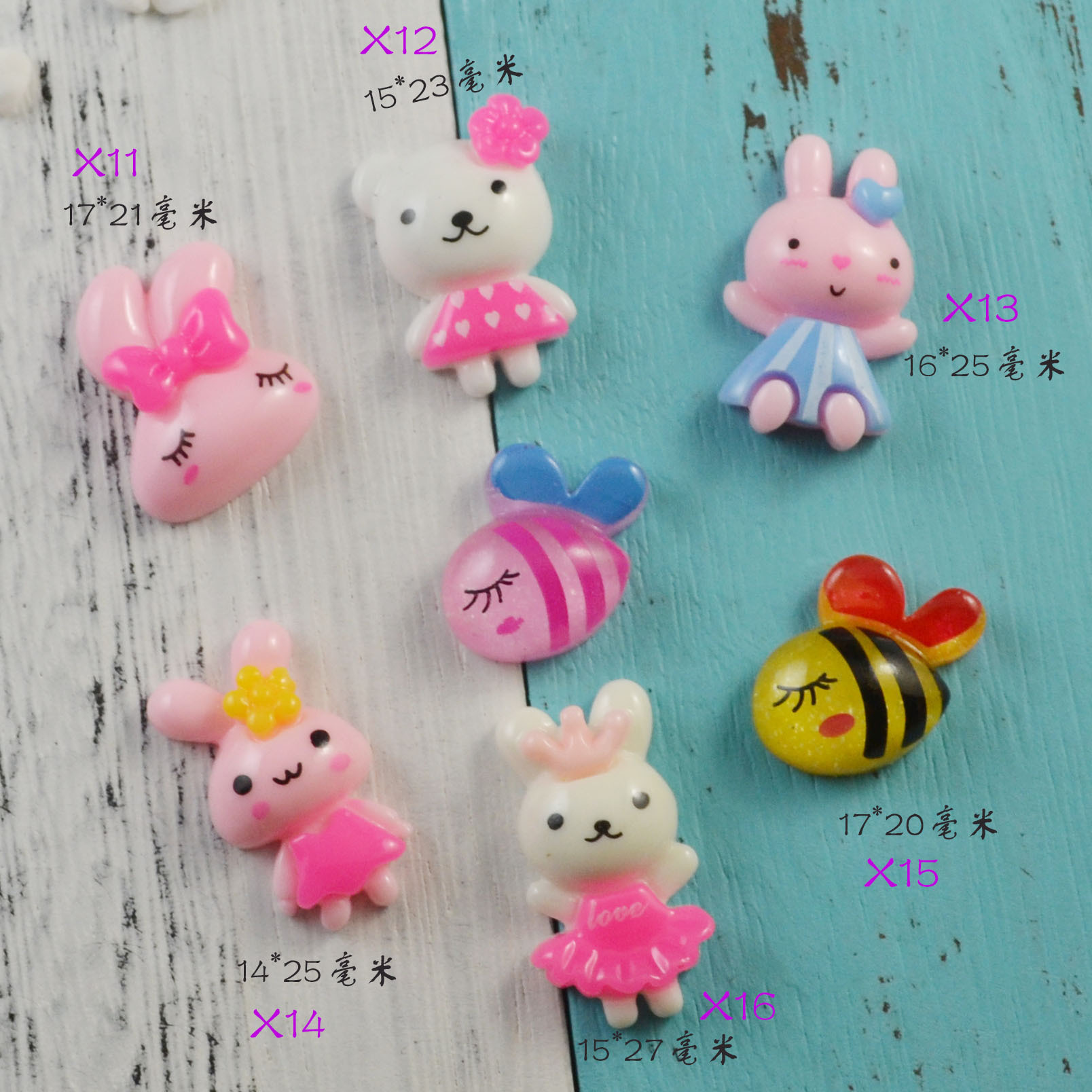 New Cute Rabbit Charms for Slime Filler Stress Relief DIY Polymer Addition Slime Accessories Toy Lizun Model Tool for Kids Toy E in Modeling Clay from Toys Hobbies