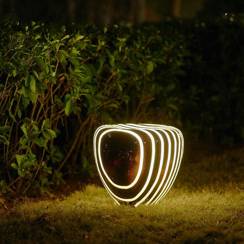 parque imitação natural luz do jardim da resina