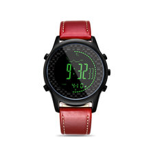 960a3e67edb3 Spovan Digital Smart Watch banda de cuero genuino relojes brújula Pacer podómetro  impermeable retroiluminación LED reloj