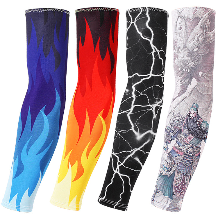 Active Ice Silk Sunscreen Sleeve Outdoor Riding Flower Arm Tattoo Tattoo Men And Women Arm Sleeves Fishing Sleeve-1 Buy Now Men's Arm Warmers Apparel Accessories