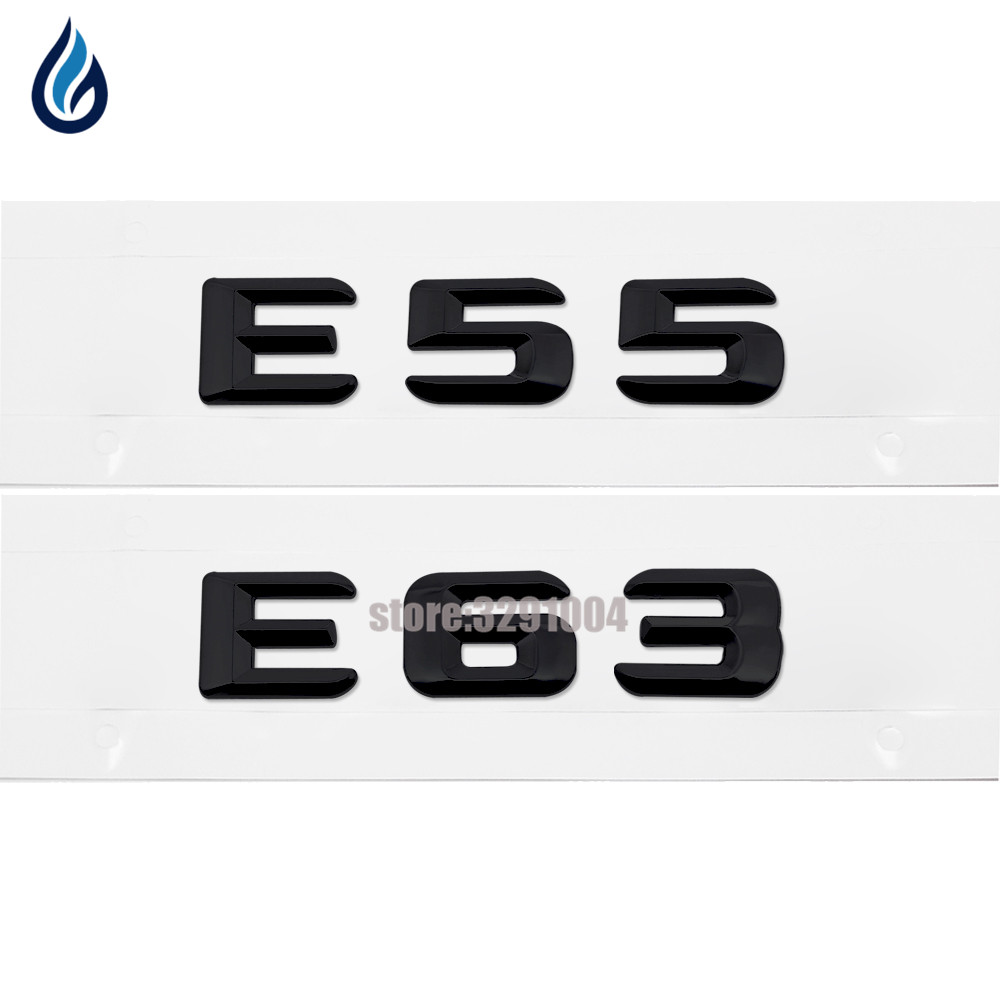 Trunk Lid Rear Emblem Badge Chrome Letters E 55 E 63 For Mercedes Benz <font><b>AMG</b></font> W115 W123 W124 W210 <font><b>W211</b></font> W212 W207 E-CLASS <font><b>E55</b></font> E63 image