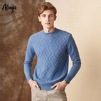 Для мужчин свитера 2019 Новое поступление 100 кашемировые свитера мужские в рубчик с длинными рукавами топ с округлым вырезом свободные трикот