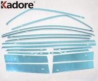 Для Ford EcoSport 2013 2014 2015 2016 автомобильные аксессуары из нержавеющей стали полная отделка для оконной рамы оконная накладка покрышка 18 шт