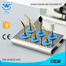 5 pcs SSPKG teeth scaling polishing whitening kit fit Satelec P-Max XS NSK varios 750 WOODPECKER DTE D7 dental care kit