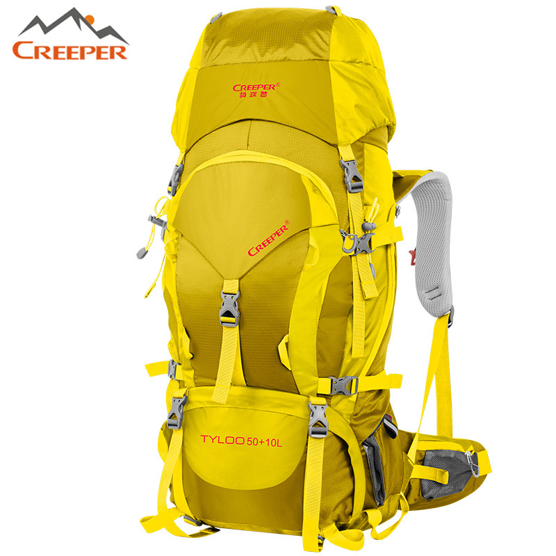 80l outdoor backpack large capacity mountaineering sports travel bags outdoor sports bag camping hiking climbing man rucksack Nylon Mochilas Sports Bags 60l Travel Climbing Bag Outdoor Backpack Camping Hiking Big Capacity Mountaineering Knapsack 60 liter