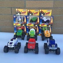 Promotion! 6pcs/set Blaze Monster Machines Sliding Vehicle Cars Transformation Toys BEST Birthday Christmas Gifts For Kids