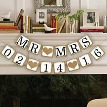 1 X MRMRS& Индивидуальные Дата свадебный плакат сохранить дату свадебное оформление вечерние украшения