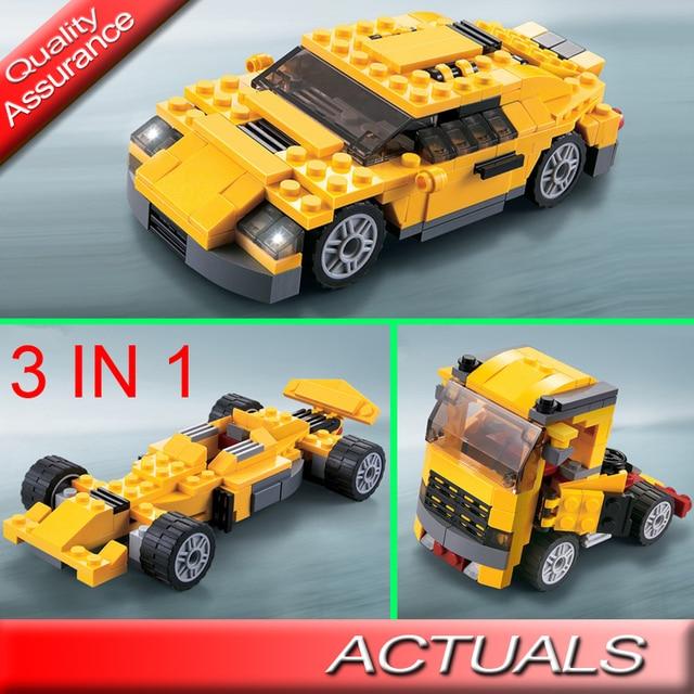 206pcs Decool 3113 Technic Creator Cool Cars Buidling Blocks 3 In 1