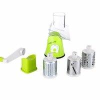 Multifunctional Stainless Steel Vegetable Shredder Hand Rotary Grater Shred Potato Slicer Roller Shape Crank Handle Kitchen Tool