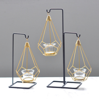 Bracket Design Candle holders with Clear Glass, Lantern Tealight Holders. Includes Free Tea Lights. Ideal GIFT for Home, Firep