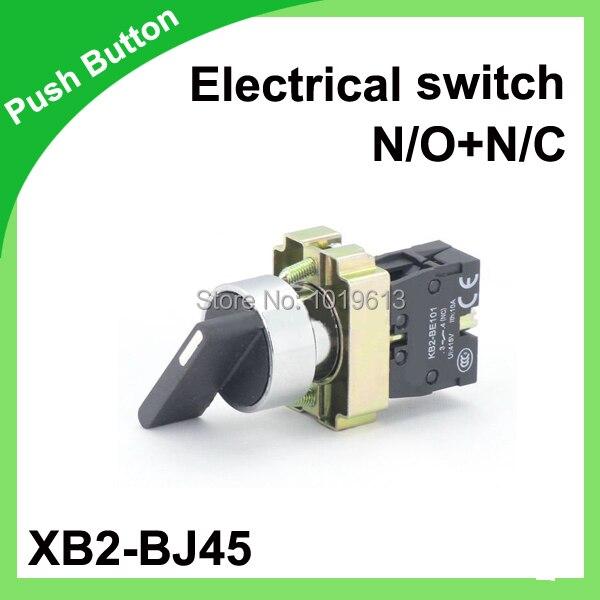 N/O + N/C Поворотный переключатель 2 позиции кнопочный 22 мм поворотный переключатель 50/60 гц XB2-BJ45