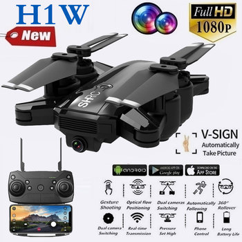 H1W Intelligence UAV 2.4Ghz Wifi FPV 1080P Front Camera + 720P Bottom Camera One-button Take-off/Landing Smart Follow Quadcopter