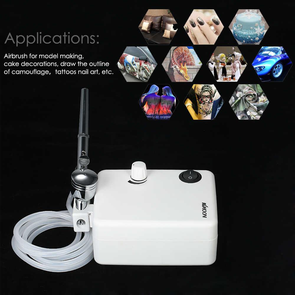 Conjunto de compressor de ar, conjunto de pistola compressora de ação dupla para pintura de arte, tatuagem e artesanato bolo