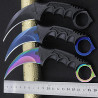 CS GO Hunting Karambit Knife Fixed Blade Counter Strike Survival Tactical Knife Hand Tools Navajas Canivetes