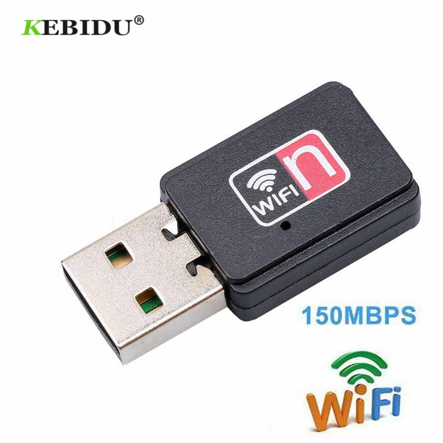 KEBIDU Mini USB WiFi Wireless Adapter Receiver 150Mbps Network Card Adaptador wifi Dongle 802.11n/b/g For Macbook Win Xp/7/8
