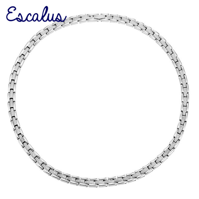 Escalus Women 56pcs Magnets Stainless Steel Necklace Ladies High Magnetic Power Silver Jewellery Choker Neckwear Charm
