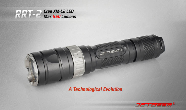 Free Shipping Original JETBEAM RRT-2 Cree XM-L2 LED 550 lumens flashlight daily torch Compatible with CR123 18650 battery lumintop tactical flashlight p16x 18650 flashlight with battery with cree xm l2 led torch type max670 lumens