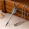 2016 New Fashion mini sieraden chain one direction silver rose gold plated arrow Pendant arrow necklaces for Women bff jewelry