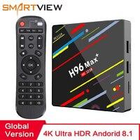 H96 MAX плюс Смарт ТВ Box Android 8,1 ТВ коробка 4 Гб оперативной памяти 32 Гб/64 ГБ Rom Rockchip RK3328 4 K H.265 USB3.0 2,4 ГГц Wi-Fi IP ТВ Декодер каналов кабельного телевиде...