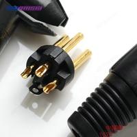 10pcs 1000pcs XLR Male Plug Black Gold 24K For Neutrik JC137BG Microphone Connector Copper Pins