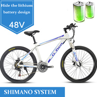 48V EBIKE lithium battery electric mountain bicycle moped stealth 350w high motor 26 inches adult variable speed off road