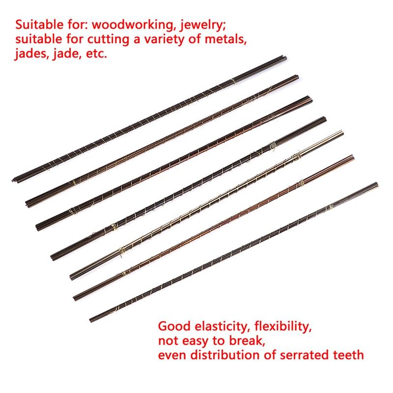 Hand Craft Tools 12pcs Mini 13cm Diamond Wire Saw Blade Cutter Jewelry Metal Cutting Jig Blades Woodworking  Scroll Spiral Teeth