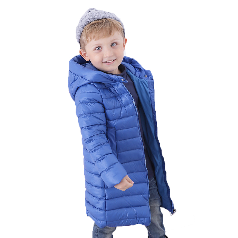 Long Coat Kids Winter Clothes Baby Down Parka Winter Warm Jacket Baby Girls Boys Hooded Child Snow Outerwear children winter coats jacket baby boys warm outerwear thickening outdoors kids snow proof coat parkas cotton padded clothes