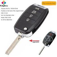 KEYECU Upgraded Flip Remote Car Key With 4 Button 315MHz & ID46 Chip FOB for Hyundai Santa Fe 2013 2014 2015 P/N: TQ8 RKE 3F04