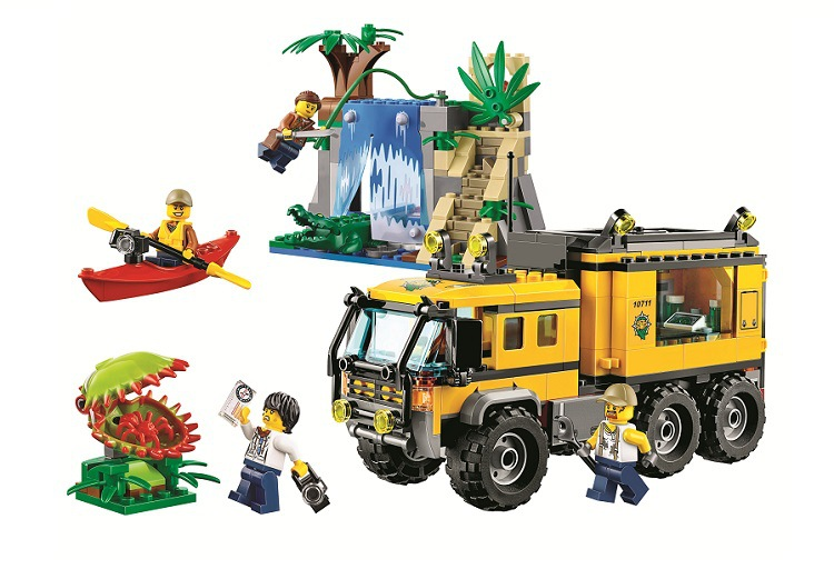 BELA Jungle Explorers Jungle Mobile Lab City Building Blocks Sets Bricks Classic Model Kids Toys Marvel Compatible Legoe lepin city town city square building blocks sets bricks kids model kids toys for children marvel compatible legoe