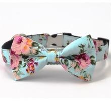Модный цветочный ошейник с бантом для собаки, подходит для 5 размеров на выбор, лучшие подарки для вашего питомца