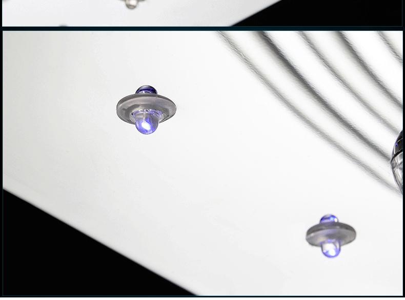 Luxury 4 Color Smooth Sailing Led Lamp K9 Crystal Modern Square Led Ceiling Lights (20)
