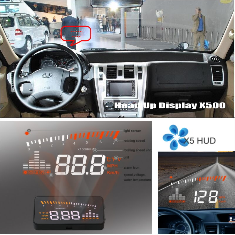 Car Information Projector Screen For Hyundai Terracan - Safe Driving Refkecting Windshield HUD Head Up Display