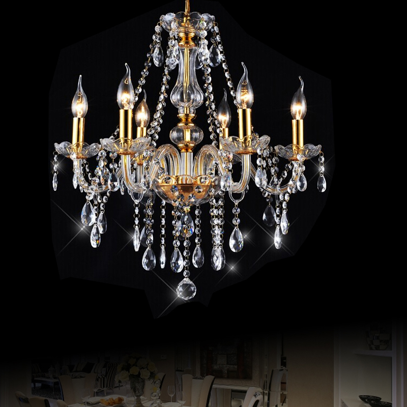 Chandeliers Fashion Style 36w Led Modern Luxury Chandeliers Lights Fixtures 6 Arcrylic Lamp Shade Use Bar Counter Light Kitchen Dining Hall Lighting 9097 Lights & Lighting