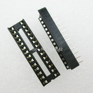 Image 1 - 20PCS/LOT 28 Pin DIP SIP IC Sockets Adaptor Solder Type Narrow ic socket