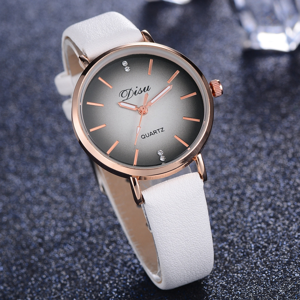 Disu Luxury Brand Fashion Women Casual Dress Watches Wristwatch Retro Design Women Bracelet Quartz Watch Saati Reloj Hombre Ff