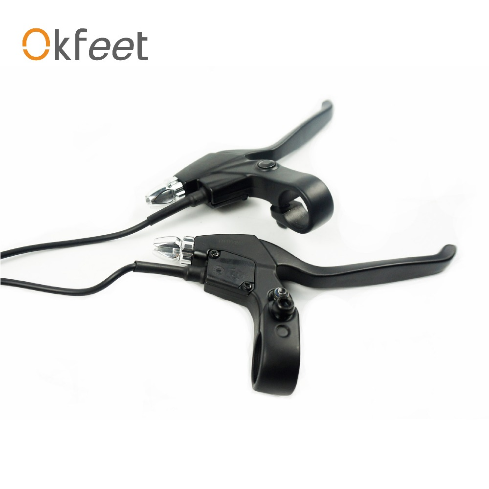 Okfeet Electric Bicycle Brake Lever Power Cut For Bicycle Electric Bikes Parts Black Aluminum Alloy Cut Off Power Brake 115PDD