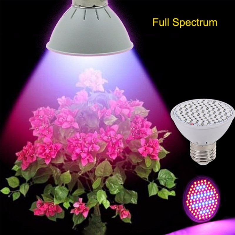 10W 106 LEDs Full Spectrum Grow Light AC85-265V E27 Indoor Plant Lamp For Plants Vegs Hydroponic System Grow/Bloom Flowering