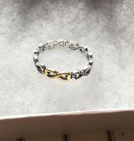 Goud liefde Ringen Compatibel met Sieraden Fonkelende boog, clear cz Grootte #6-10 100% 925 Sterling Silvers Europese Stijl ring