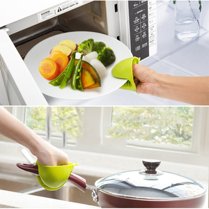 Image 2 - Thicken Food Grade Silicone Gloves Anti Hot Bowl Kitchen Thermal Insulation Briefcase Take Folder Baking Plate Oven Clip in Hand