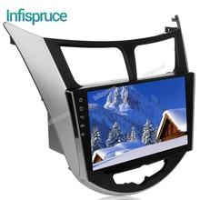 Android 6.0 dvd de voiture dvd pour Hyundai Solaris accent Verna i25 gps navigation autoradio lecteur vidéo de voiture stéréo multimédia lecteur