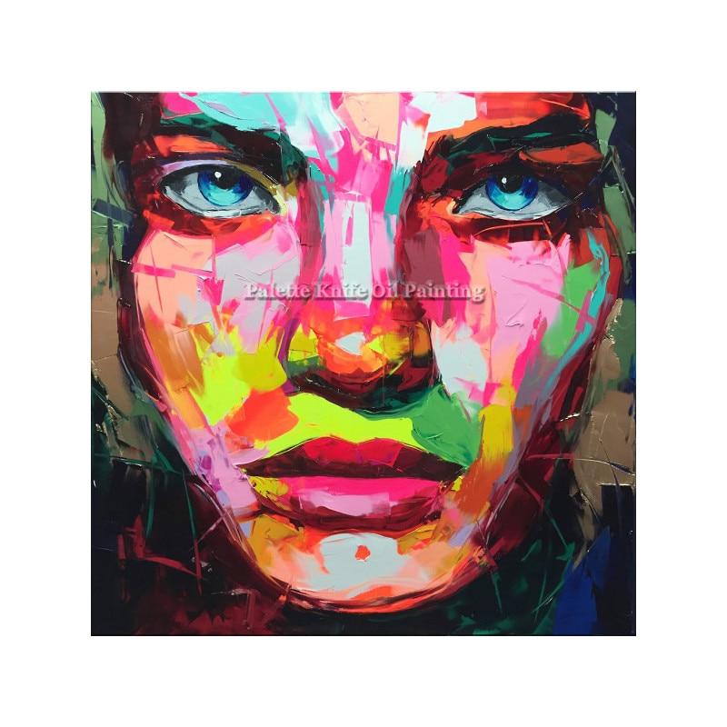 Francoise Nielly canvas Painting Palette nůž Face olejomalba nástěnné malby obrázky pro obývací pokoj domácí výzdoba caudros decoracion