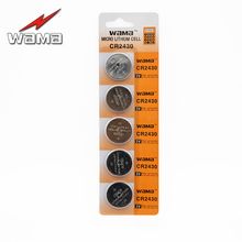 ФОТО 5x wama cr2430 3v button cell coin batteries dl2430 kecr2430 ecr2430 li-ion rolling gate car remote battery