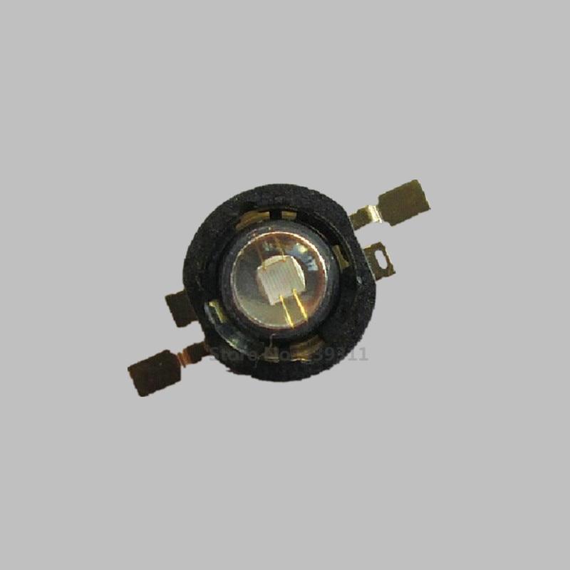 Free shipping 50PCS 3w 5W High power LED Purple Lamp UV Light 45mil Chips black golden bracket