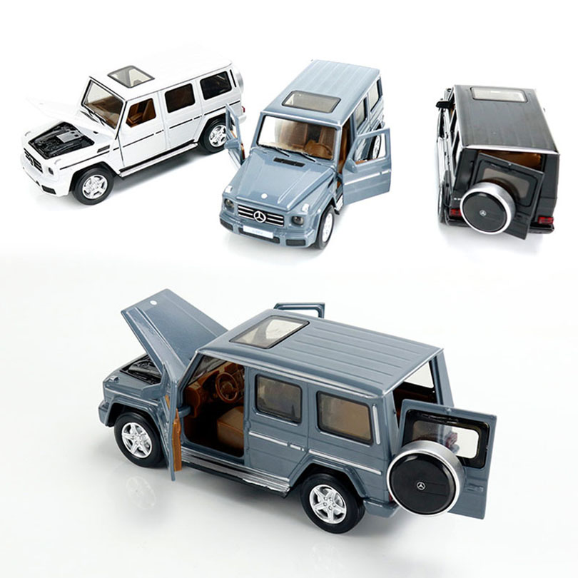 1/32 Benz G350d Simulation Toy Car Model Alloy Pull Back Children Toys Genuine License Collection Military Off-Road Vehicle