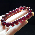 High Quality Natural Genuine Red Pink Tourmaline Stretch Bracelet Round Beads 10mm 04423