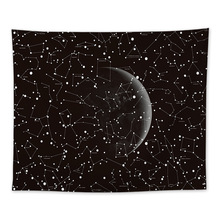 Hot Multi Constellations Printed Polyester Wall Tapestry Yoga Mat Home Art Hanging Tapestry Bedroom Carpet 1pcs Soft Bed Blanket
