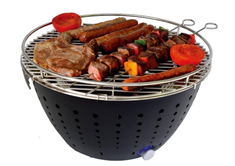 Gril de Table Barbecue sans fumée Barbecue Portable à piles avec ventilateur pour Barbecue intérieur et extérieur