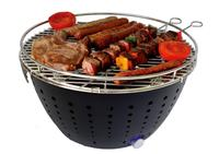 Table top Grill Smokeless Charcoal Grill Portable Barbecue Battery Operated with Fan for Indoor & Outdoor Grill BBQ