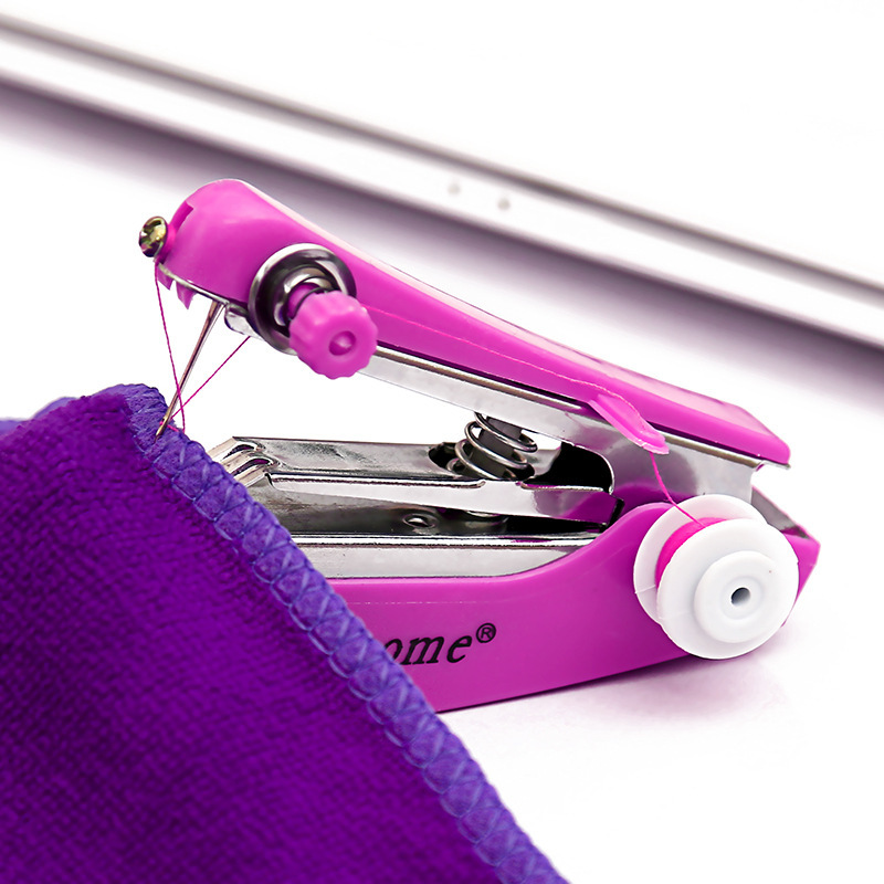 1pc Multifunctional Mini Sewing Machine Single Needle Portable Handheld Household Manual