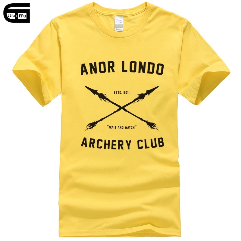 Anor <font><b>Londo</b></font> Archery CLUB Men Tees T-Shirts Game Dark Souls T Shirts Casual Apparel Fashion short sleeve Tops T370 image